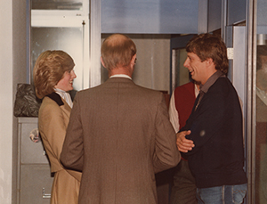 Roger Scott with Princess Diana