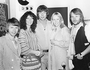 Roger Scott with Abba