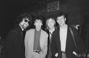 Roger Scott with George Harrison, Tom Petty and Jeff Lynne