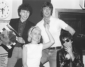 Roger Scott with Blondie