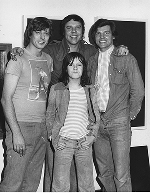 Roger Scott with Marty Wilde, Jess Conrad, and Ricky Wilde