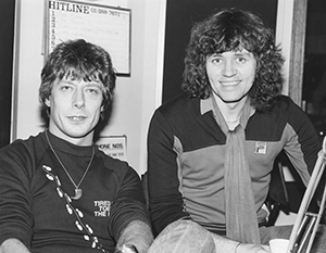 Roger Scott with Bev Bevan